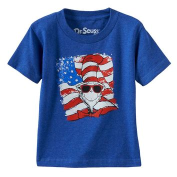 Dr. Seuss The Cat in the Hat American Flag Tee - Toddler Boy, Size: