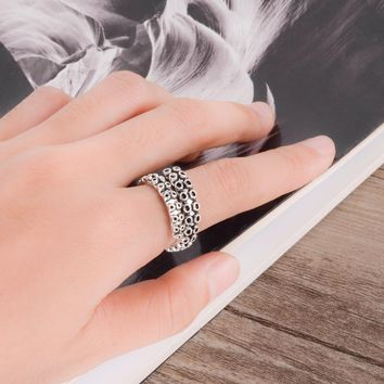 Unisex Vintage Stainless Steel Octopus Tentacle Wrap Ring Fashion Sea Animal Antique Black Adjustable Open Rings For Women Men