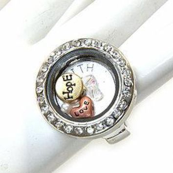 Floating Charm Ring
