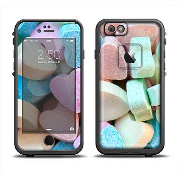 The Multicolored Candy Hearts Apple iPhone 6 LifeProof Fre Case Skin Set