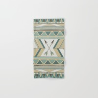 Aztec Pattern Arrows Hand & Bath Towel by LouJah