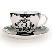 Victorian Cameo Tea Cup & Saucers Set