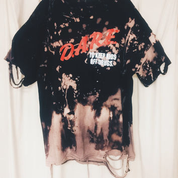DISTRESSED BLEACHED Tee - D.A.R.E.