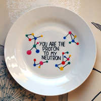 Science of Love - Hand Drawn Plate