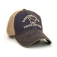 The Howler Trucker Hat in Blue by Southern Fried Cotton - FINAL SALE
