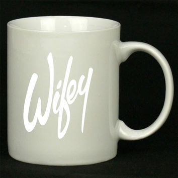 Wifey Art For Ceramic Mugs Coffee *