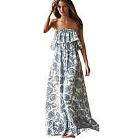 Sexy Off Shoulder Long Maxi XL Dress Women BOHO Evening Beach Sundress