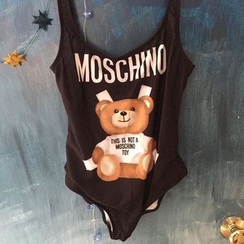 Authentic Moschino One piece Bathing Suit