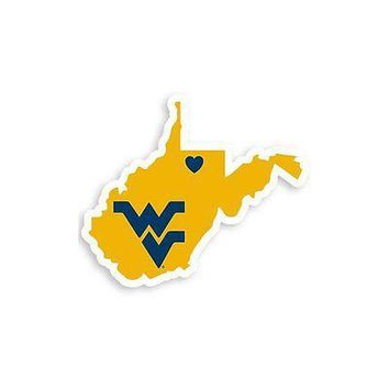 NCAA West Virginia Mountaineers Home State Auto Car Window Vinyl Decal Sticker
