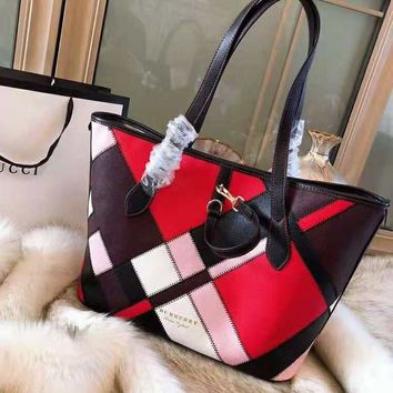 Burberry High Quality Classic Fashionable Women Shopping Bag Leather Handbag Tote Shoulder Bag