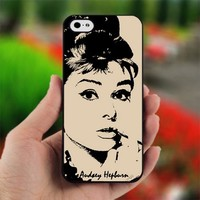Audrey Hepburn vintage image - Photo on Hard Cover For iPhone 4,4S