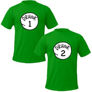 drunk 1 drunk 2 tshirt irish