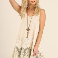 Floral Lace Racerback Tunic
