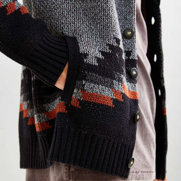 UO Patterned Shawl Cardigan - Urban Outfitters