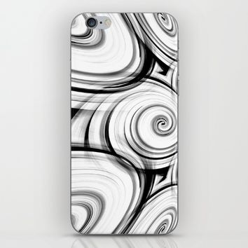 Black And White Swirls By Saribelle Rodriguez iPhone & iPod Skin by Saribelle Inspirational Art