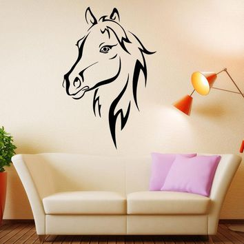 Removable wall stickers animal horse living room wall decor mural art mural home decor Vinyl wall stickers F-64