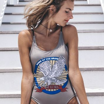 CHASER Brand Victory Eagle One Piece Swim