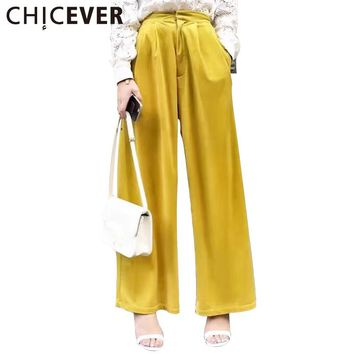Velvet High Waist Trousers for Women Wide Leg Pants Female Palazzo Casual Clothes