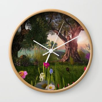 Multitude of Color Wall Clock by Bella Luna Arts