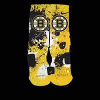 Boston Bruins Inspired Custom Nike Elite Socks