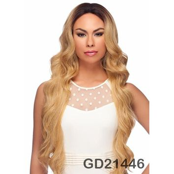 "LACE FRONT WIG, EXTRA LONG WAVY CURL 34"" (LL002)"