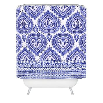 Aimee St Hill Decorative Blue Shower Curtain