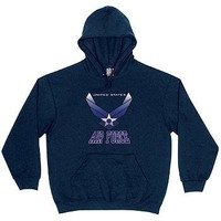 Military Pullover Hoodie US Air Force Branch Logo