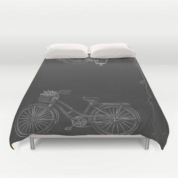 Under the Lamp Duvet Cover by Texnotropio