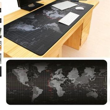 80*30CM Tappetino Mous World Map Large Gaming Mouse Pad Locked Edge Mousepad Mouse Mat  For Razer Overwatch Tapis De Souris