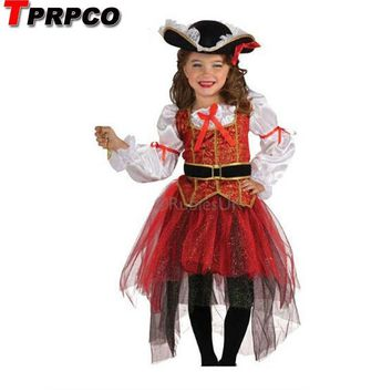 Cool TPRPCO Halloween Christmas pirate costumes  girls party cosplay costume for children kids clothes NL162AT_93_12