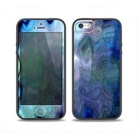 The Vivid Blue Sagging Painted Surface Skin Set for the iPhone 5-5s Skech Glow Case
