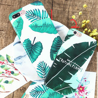 Banana Leaf Case for iPhone 7 7Plus & iPhone se 5s 6 6 Plus Best Protection Cover +Gift Box-205