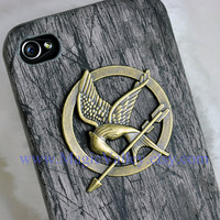 The hunger games Mockingjay Iphone case Black Wood by MagicValley