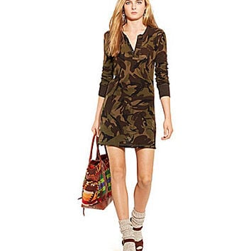 Polo Ralph Lauren Camo Henley Shirtdress - Camo
