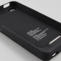 External Charger Battery Pack Case for Iphone 4g & 4s USB Charging 1900mah (black)