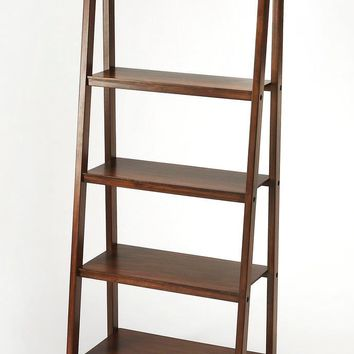 Stallings Traditional Bookcase Dark Brown