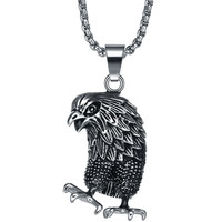 Stainless Steel Eagle Pendant Necklace