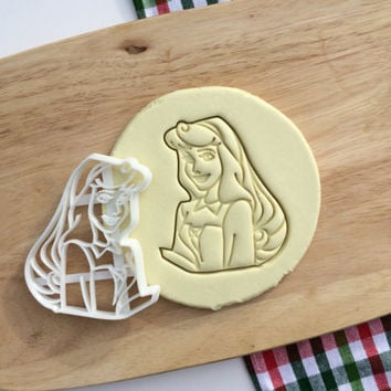 Aurora Cookie Cutter Princess Aurora Cookie Cutter Cupcake topper Fondant Gingerbread Cutters - Made from Eco Friendly Material