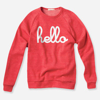 Hello Merch — Hello (Adult) Red Champ Pullover
