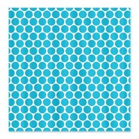 Large Bold Aqua White Polka Dots Shower Curtain> Large Bold Aqua White Polka Dots> Cierra's Pattern Decor and Gifts