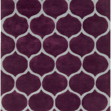 Surya Mamba Geometric Area Rug Purple