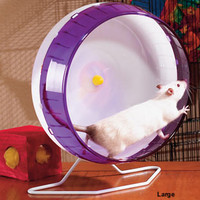 Silent Spinner: Rat, hamster, gerbil, or mouse cage accessory for silent, safe pet play and exercise