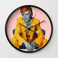 pinky bowie 2 Wall Clock by Startistunknown