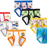 Handcraft Little Boys' Toddler Paw Patrol  Brief (Pack of 7), Assorted, 4T