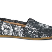 TOMS+ GREY SILVER BRUSHED METAL WOMEN'S CLASSICS