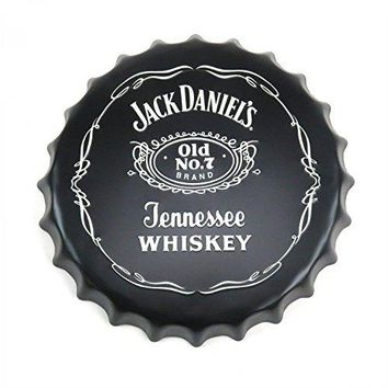 Vintage Parts 323914 Jack Daniel's Tennessee Whiskey Bottle Cap Display Sign - Baked Enamel, 1 Pack