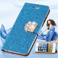 I5 SE Wallet Pouch Fashion Luxury PU Leather Case For Apple iPhone 5 5S SE Women Girl Sexy Back Cover With Bling Diamond Buckle