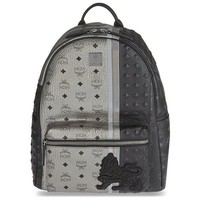 Two-Tone Grey Lion Backpack by MCM