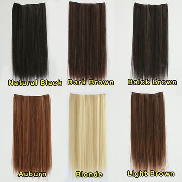 """23"""" Long Straight Clip in Hair Extensions Hairpieces = 5658504449"""