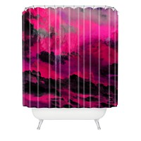 Caleb Troy Raspberry Storm Clouds Shower Curtain